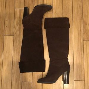 Nine West Brown Suede Tall Boots